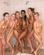 Six in the shower