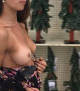 flashing in a craft store