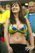 God Bless Brazil for the beautiful women and flag babes (x-post /r/FlagBabes)