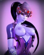 blue boob  widowmaker (haysins)