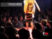 Stripping on the catwalk