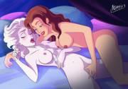 Belle bringing Elsa to ecstasy (Nippy13)