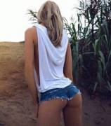 Little jean shorts