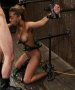 Blowjob in restraints