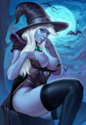 Drow Ranger, witch-y pinup (mavezar)