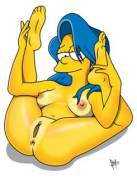 Marge spreading wide (BadBrains) [The Simpsons]