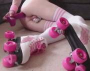Look at these rollerblades!
