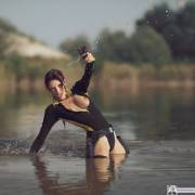 Lara Croft wetsuit cosplay (x-post from r/nsfwcosplay)