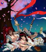 Kagura eating out Erza