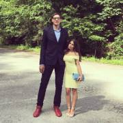 Serbian basketball player Boban Marjanovic and his wife