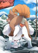Vulpixes in the Snow [M/F] by insomniacovrlrd