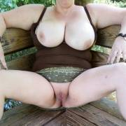 Exposed in park. I will get 1 cunt spank (f)or each upvote. (Pics post spanking after May 1st)