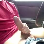 Big dick in the front seat
