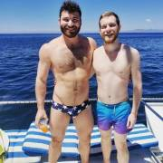 The boyfriend and I on a gay day cruise in Puerto Vallarta