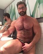 Daddy in the bathroom