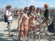 Naked for a bike ride