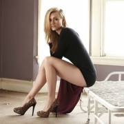 yvonne strahovski sitting there looking awesome!