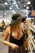 Kayla Linchek in a supermarket