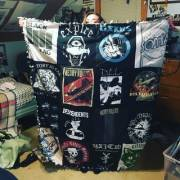Girlfriend turned some of my punk/hardcore shirts into a quilt.