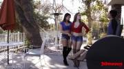 Lena Paul & Violet Starr - Threesome with lucky guy
