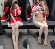 Hope you like my Santa outfit! Or do you prefer what's underneath?