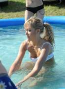 down-bikini in the play pool ...