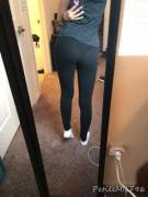[oc] Think anyone will see my thong through these leggings...?