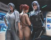 Silver Sable and Black Cat capture Mary Jane (Nyalicia)