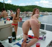 Shy girl quickly turn into Real Cam Sluts when on a Boat [x-post from /r/CamSluts]