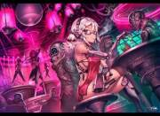 Android at the club (Gia)