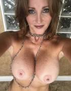 Milf shows off her nice pair