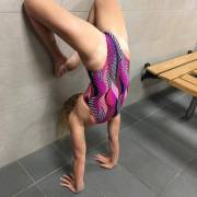 Handstand in a one peice