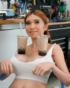 SexyCyborg with two big cups