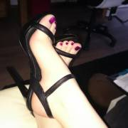 Gf's Purpletoes in Highheels