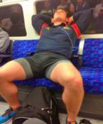 Manspreading at it's absolute best