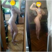 F/20/5'1' [112lbs<115lbs=3lbs] 2 months diet,one month lifting. Happy with everything so far,except for the stubborn tummy