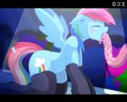 Rainbow Dash getting tentacled [animated] (artist:oze) (part 3)