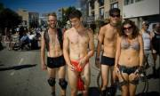 Me in a Red Thong at Folsom Street Festival 2010