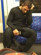 Sleeping on the tube