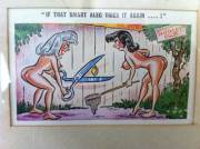 My Grandfather passed away almost 2 years ago. These smutty postcards are what the horny blighter left to me. [x-post /r/pics]