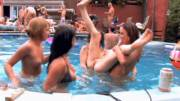 5 Young Hot Chicks in a Huge Outdoor Pool Orgy