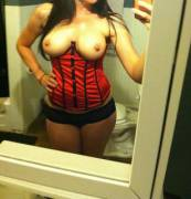 Here's a Red Corset. I Hope You Enjoy it.