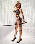 Velvet Sky (TNA knockout) Black Tape Samurai Warrior (x NSFWCostumes post)