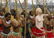 Albino African Tribeswoman (x-post /r/pictures)