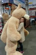 x-post from /r/pics - 92 inch teddybears now at Costco!