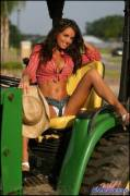 I think her tractor's sexy
