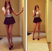 (legs) Endless legs, amazing short skirt by pimpbutterfly