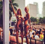 sexy gogo dancers at Ultra Music Festival