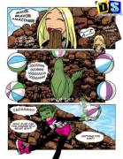 Terra and Beast Boy(x-post rule34_comics)