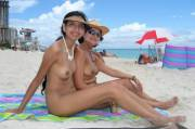 Mother & Daughter combo visit nudist beach